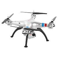 Квадрокоптер Syma X8G со съемной HD-камерой - великолепный летательный аппарат для аэрофото- и видеосъемки, впечатляющий эффектным футуристическим дизайном и насыщенным функционалом. Продуманная до мелочей конструкция модели ориентирована на эксплуатацию, как в помещении, так и на открытом воздухе при умеренном ветре. Четырехканальное управление позволяет легко справиться с любыми виражами, перемещая квадрокоптер вверх/вниз, вправо/влево, вперед/назад, а также выполнять сложнейший элемент - переворот на 360 градусов. Наличие режимов Mode1 и Mode2 обеспечивает удобство пилотирования и правой, и левой рукой. Трансмиттер, работающий на частоте 2,4 Ггц, гарантирует солидный радиус управления. Приятной особенностью X8G служит полноцветная светодиодная подсветка корпуса, делающая его заметным даже на большом расстоянии, а в темное время суток превращающая полет в поистине фантастическое зрелище.