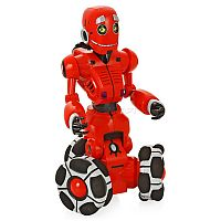 WowWee RS Tri-Bot (8042) - высокотехнологичный интерактивный робот, обладающий большим ассортиментом интересных игровых функций и забавных режимов. Дружелюбный Tri-Bot покорит вас своим удивительным обаянием и живой, почти человеческой, мимикой. Кроме того, он - отличный собеседник, который готов развлекать вас своими шутками и историями, а также делиться актуальными замечаниями. Робот оснащен трехколесной базой, обеспечивающей маневренность и плавность движений в любом направлении. В комплекте удобный пульт дистанционного управления с датчиком наклона.