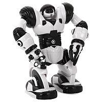 Mini Robosapien 8085 - очаровательный электронный компаньон для вашего малыша, являющийся аналогом большого интерактивного робота от WowWee. Мини-робот умеет перемещаться по ровной поверхности и двигать конечностями, во время работы его глаза светятся. Необычной особенностью Mini Robosapien является способность захватывать и удерживать в своих руках-манипуляторах мелкие предметы с незначительным весом (например, ручку, карандаш, ластик и т.д.). Игрушка умеет передвигаться по ровной поверхности, функционирует от обычных батареек типоразмера «ААА» и практически в любой момент готова к эксплуатации.