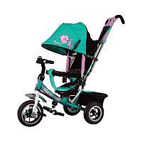 Велосипед трехколесный TRIKE - стильное и функциональное транспортное средство для Вашего ребенка. Привлекательный дизайн выполнен в ярком розовом цвете с оригинальной вышивкой «гжель» со стразами наверняка придется по душе мамам и дочерям, следящим за последними тенденциями в моде. Надувные колёса с алюминиевыми дисками 10 и 8 дюймов обеспечивают плавное движение по любым поверхностям. Наклонная спинка для обеспечения максимального комфорта для маленькой пассажирки. Тормоз задних колес защищает от непроизвольного движения велосипеда.