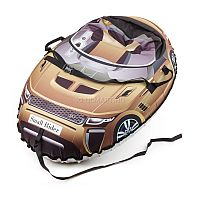 """Новые ватрушки Snow Cars 2 имеют более округлую форму и большую 16-ую камеру, делающую стенки уже, благодаря чему ребенок внутрь садится достаточно глубоко и не выпадет во время спуска. Материал верха - водонепроницаемая плотная ткань Poly Oxford. Она делает Snow Cars воздушными в отличие от тяжеловесных ватрушек с тканью """"тент"""" (ПВХ 600 гр). Наличие ремней безопасности."""