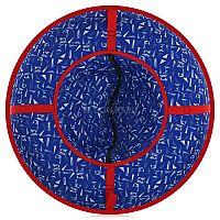"""Ватрушка-тюбинг Дизайн 95 ВСД/3 предназначена для катания с горок взрослых и детей. Верх изготовлен из полиэстера. Дно выполнено из армированного автотента. Каркас- автокамера. Верх и дно пришиты на специальную полосу, уменьшающую складки по периметру санок. Буксир выполнен из капроновой ленты.<br><br><B><p><font color=""""#ff0000"""">Важно! Если камера не заполнила ватрушку означает, что она не полностью надута и необходимо продолжать надувать камеру до указанных в инструкции значений давления (до полного заполнения чехла)</font></p></B><br><br><B><p><font color=""""#ff0000"""">Камеры имеют специфический запах резины, мы подобрали камеры с наименьшим запахом, но полностью его исключить невозможно по техническим причинам. </font></p></B>"""