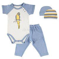 Практичный трикотажный комплект для мальчика от Hudson Baby, состоящий из боди с коротким рукавом, штанов с эластичным поясом на резинке и двух шапочек разной расцветки, - универсальное дополнение к повседневному гардеробу малыша. Изделия выдержаны в едином стиле и идеально сочетаются друг с другом в любой вариации. Застежка в нижней части боди обеспечивает удобство при переодевании малыша и упрощает процедуру замены подгузника.<br>Состав материала: 100% хлопок.