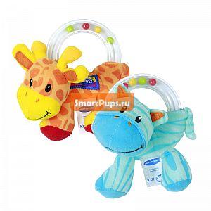 Новый 1 шт. Детские Игрушки Милые Плюшевые Погремушки, Ребенок Держит Игрушку Животных Кольцо Мячи Рано Образовательных Рук Обучение