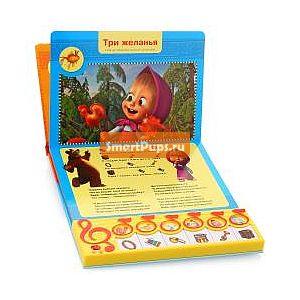 УМКА Книга УМКА Маша и Медведь. Пой вместе с Машей. Книга-пианино с 6 клавишами и кнопками